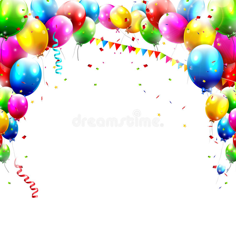 Verjaardagsballons stock illustratie