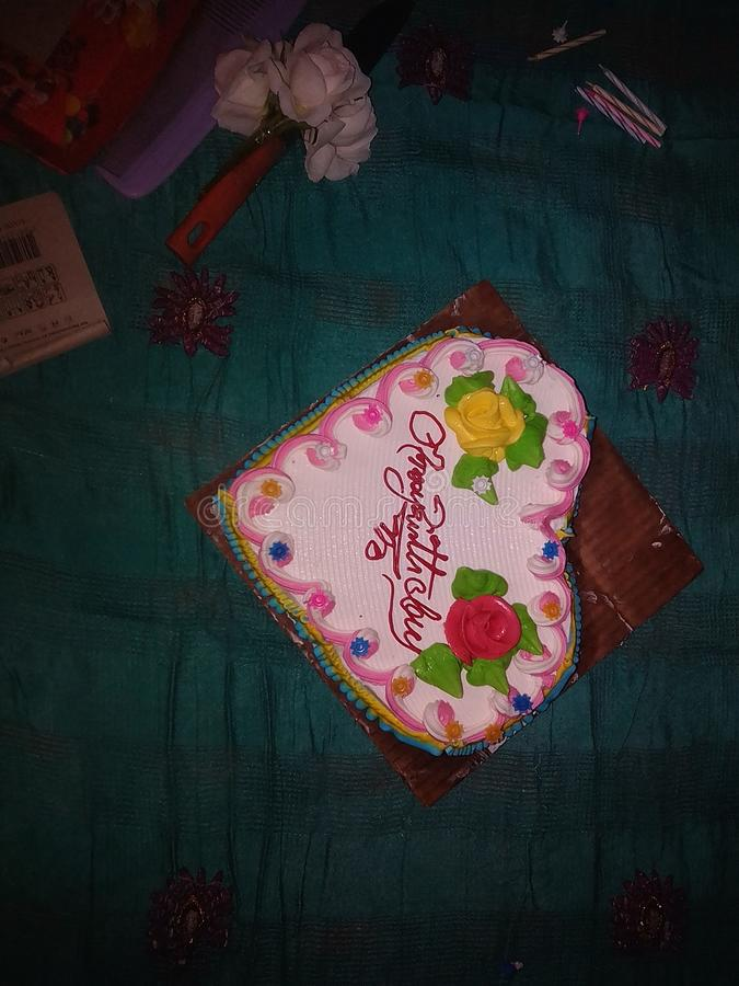 verjaardagscake van rakib royalty-vrije stock afbeelding