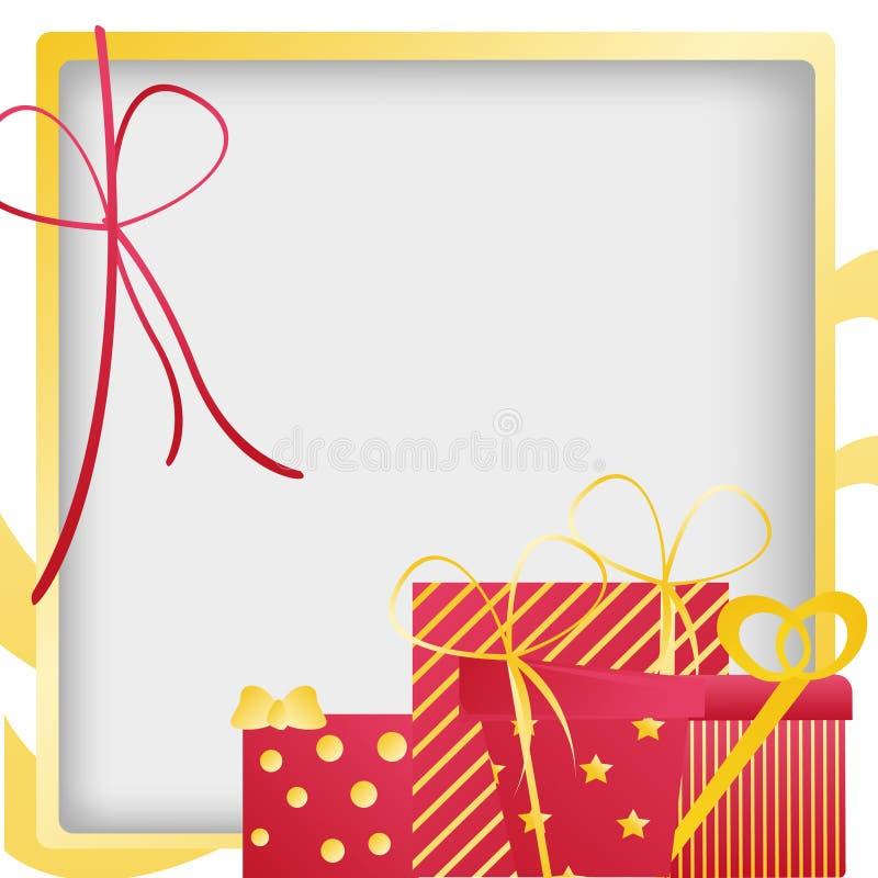 Verjaardagsgeschenk vector illustratie