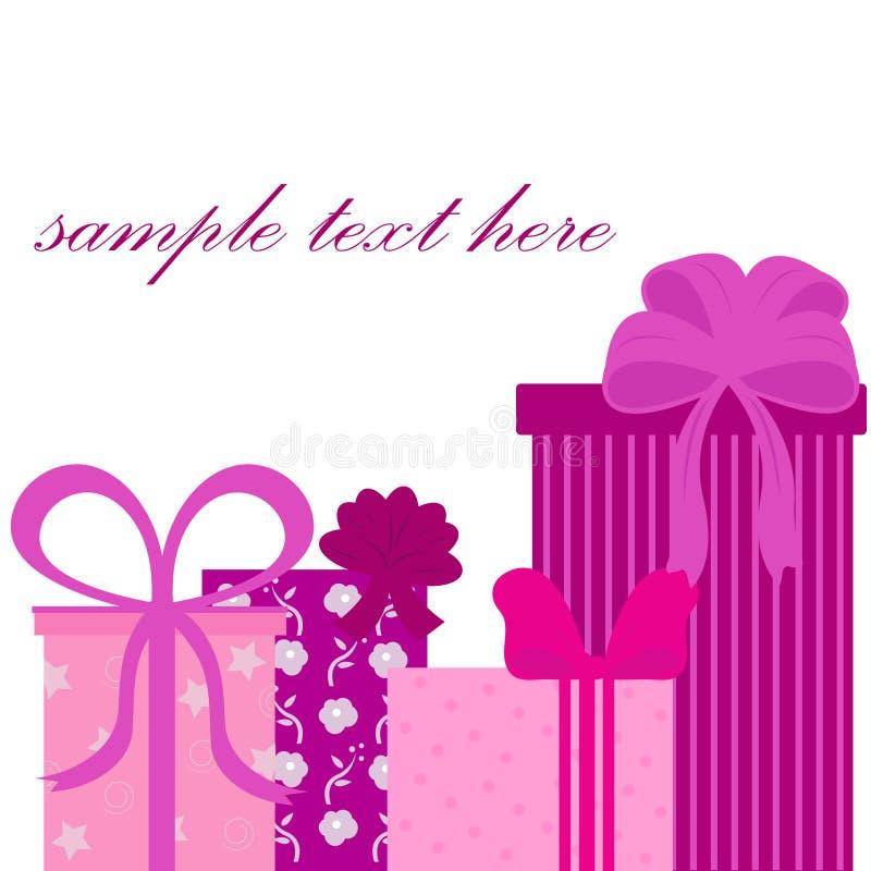 Verjaardagsgeschenk achtergrond vector illustratie