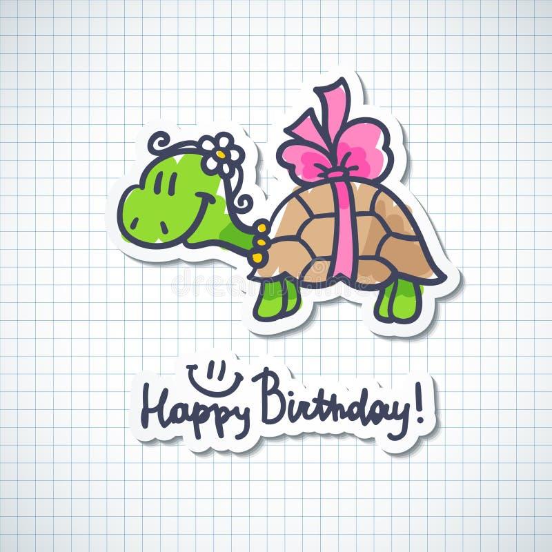 Verjaardagskaart vector illustratie