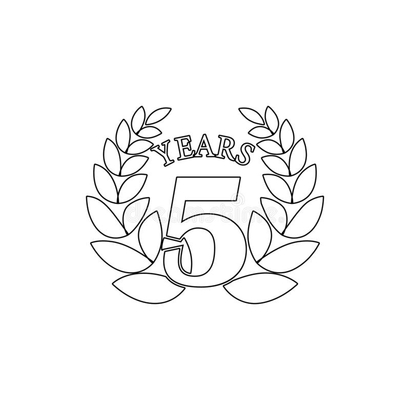 5 verjaardagsteken Element van verjaardagsillustratie Grafisch het ontwerppictogram van de premiekwaliteit Tekens en symboleninza stock illustratie