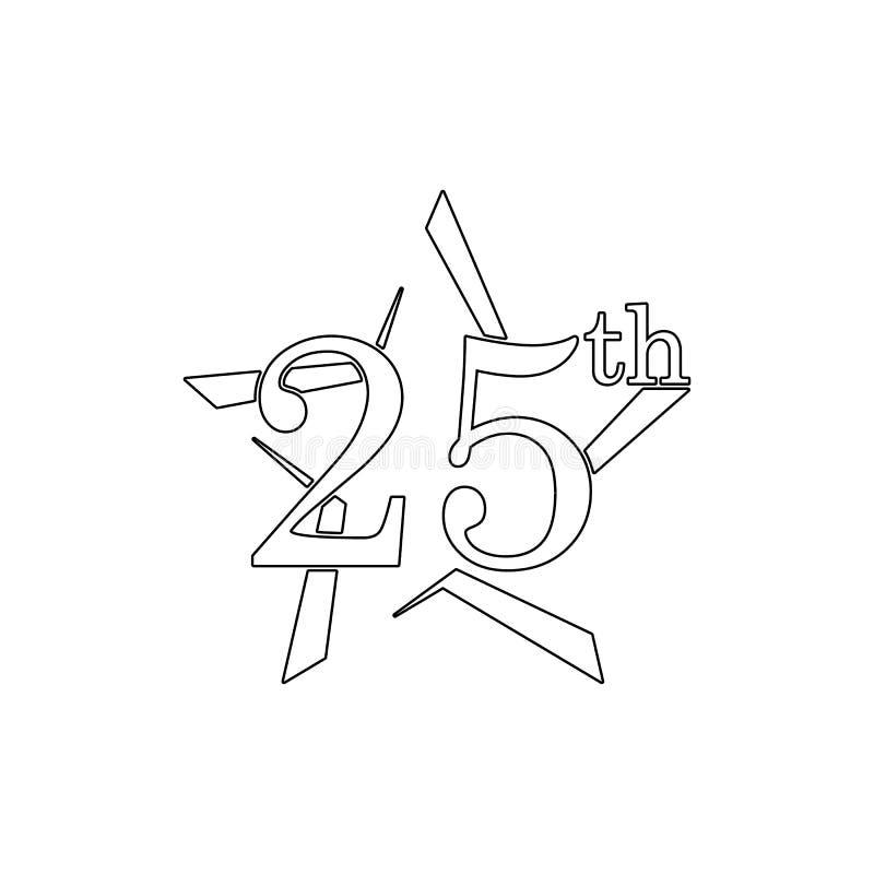 25 verjaardagsteken Element van verjaardagsillustratie Grafisch het ontwerppictogram van de premiekwaliteit Tekens en symboleninz royalty-vrije illustratie