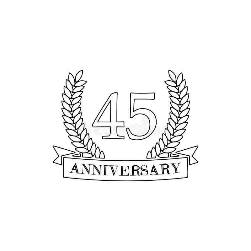 45 verjaardagsteken Element van verjaardagsillustratie Grafisch het ontwerppictogram van de premiekwaliteit Tekens en symboleninz stock illustratie