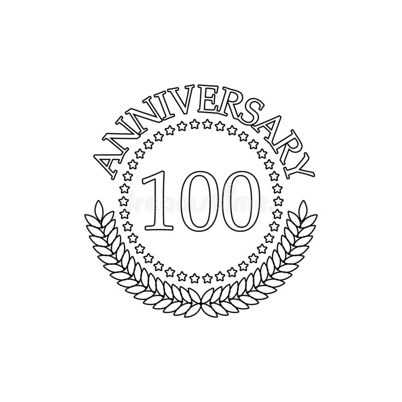 100 verjaardagsteken Element van verjaardagsillustratie Grafisch het ontwerppictogram van de premiekwaliteit Tekens en symbolenin vector illustratie