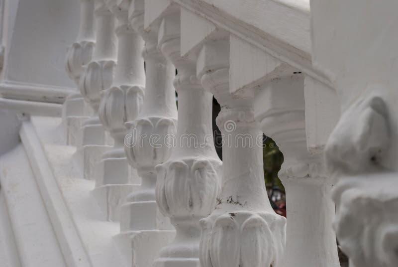 Verjas blancas del yeso foto de archivo