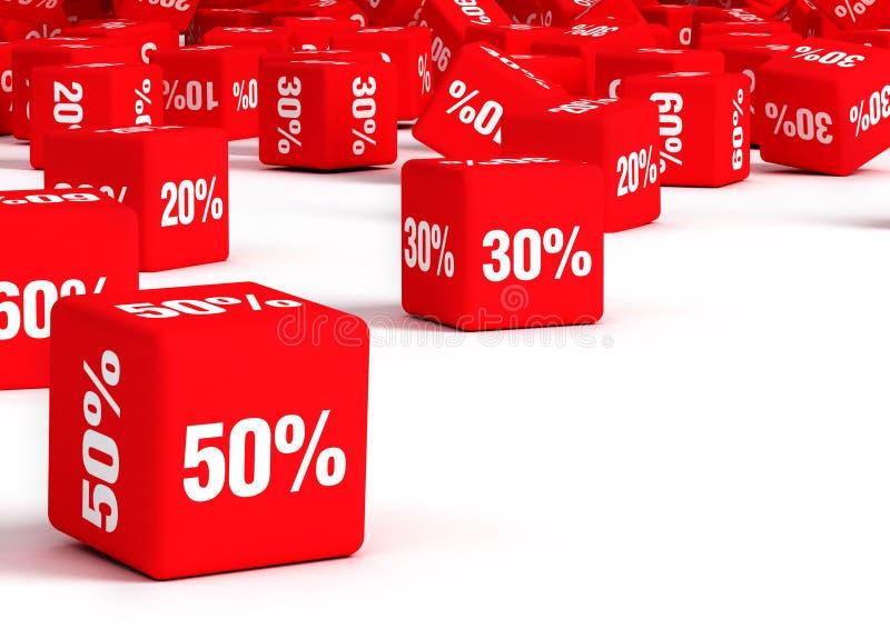 Verkäufe stock abbildung