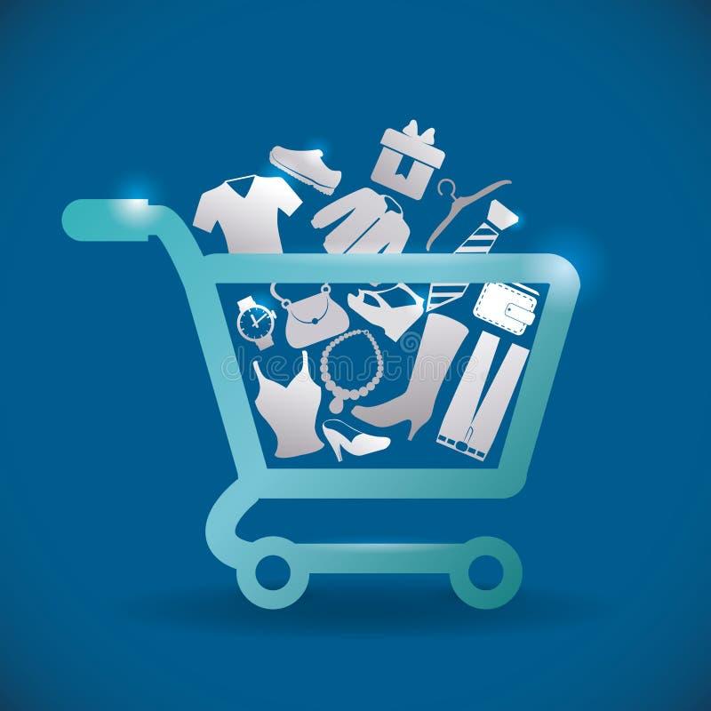 Verkäufe und Einzelhandel lizenzfreie abbildung