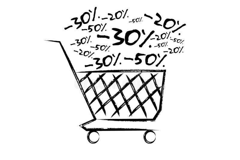 Verkäufe und Förderungskonzept lokalisiert auf einem Hintergrund vektor abbildung