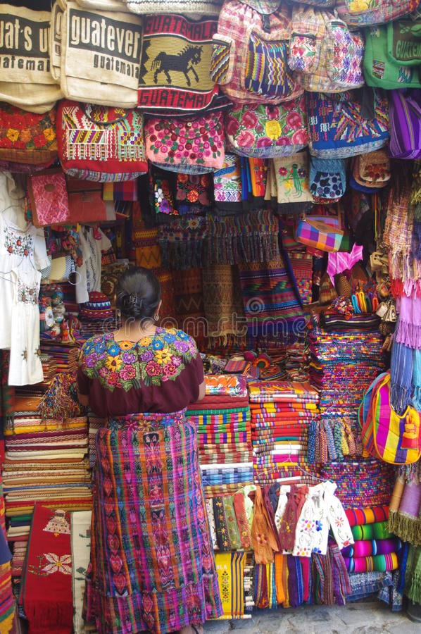 Verkäufer in Guatemala lizenzfreie stockbilder