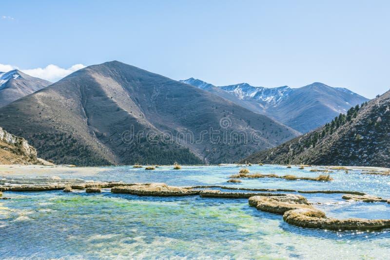Verkalkter Teich Quanhua Sonnenbräune stockbild