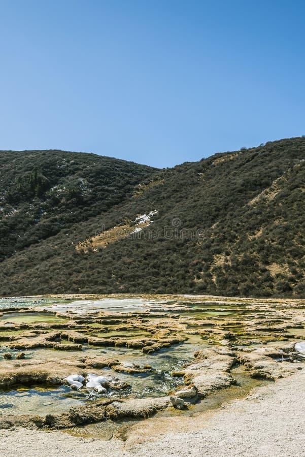 Verkalkter Teich Quanhua Sonnenbräune stockfoto