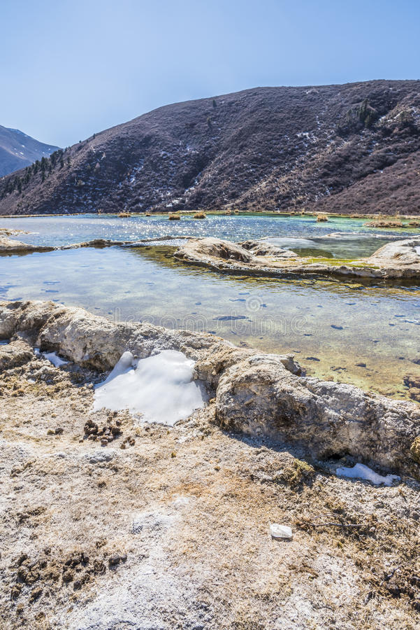 Verkalkter Teich Quanhua Sonnenbräune lizenzfreies stockbild