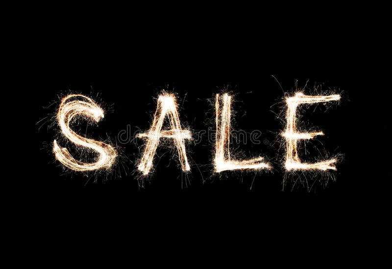 Verkauf Bengal-Lichter funken feier zeichen lizenzfreie stockbilder