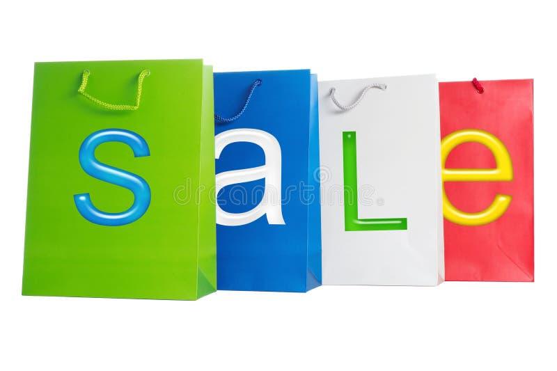 Verkauf - Beutel stockbild