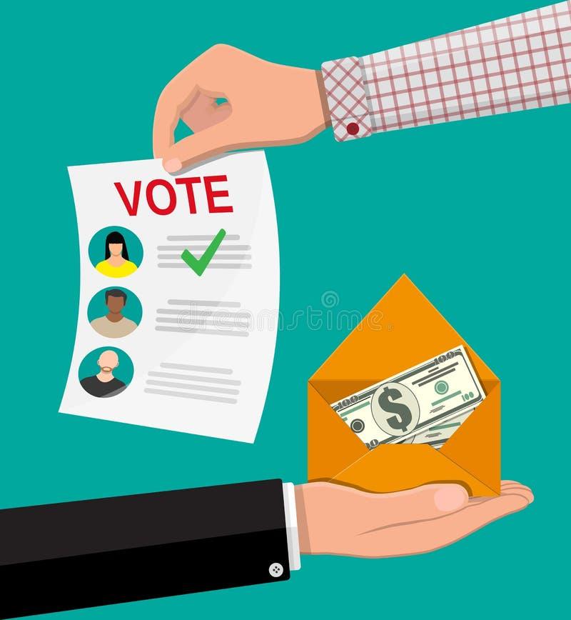 Verkauf der Abstimmung für Wahl stock abbildung