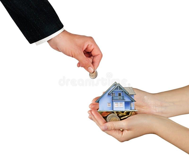 Verkauf des Hauses lizenzfreies stockbild