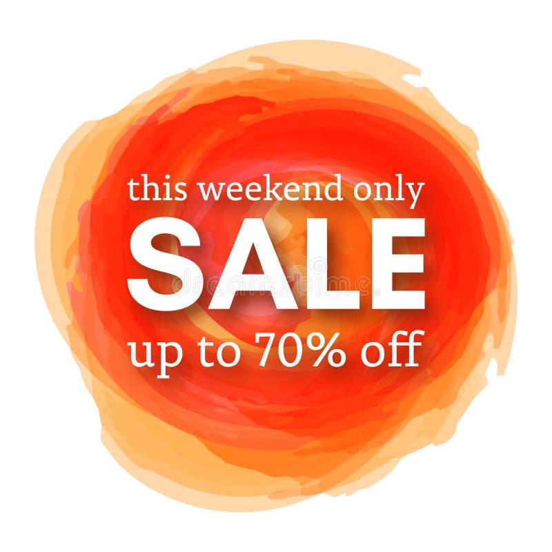 Verkauf dieses Wochenende nur bis 70 weg vom Zeichen stock abbildung
