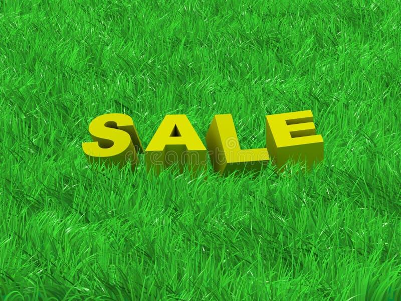 Verkauf einer Sommeransammlung lizenzfreie abbildung