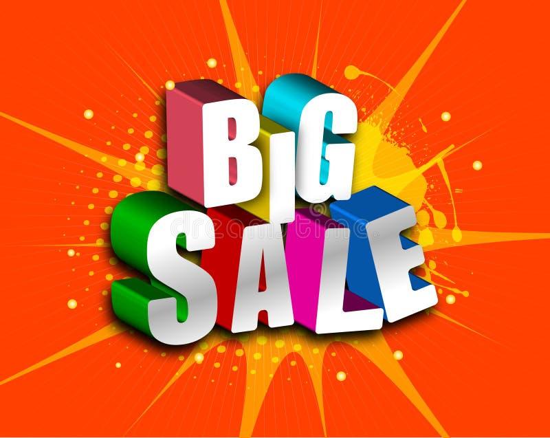 Verkauf groß vektor abbildung
