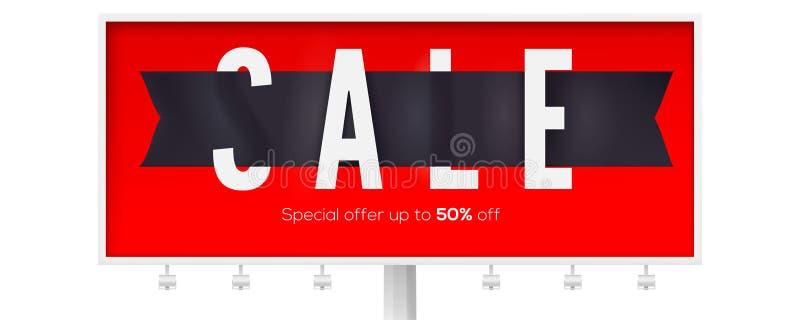 Verkauf, kreative Anzeigenanschlagtafel für Ereignisse von schwarzem Freitag, Weihnachtsverkäufe Stehen Sie zu einem 50-Prozent-R stock abbildung