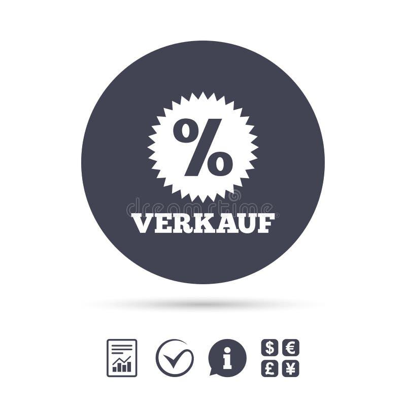 Verkauf Sale In German Sign Icon Star Stock Vector