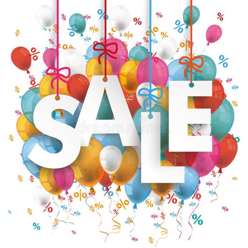 Verkauf steigt Prozente im Ballon auf lizenzfreie abbildung