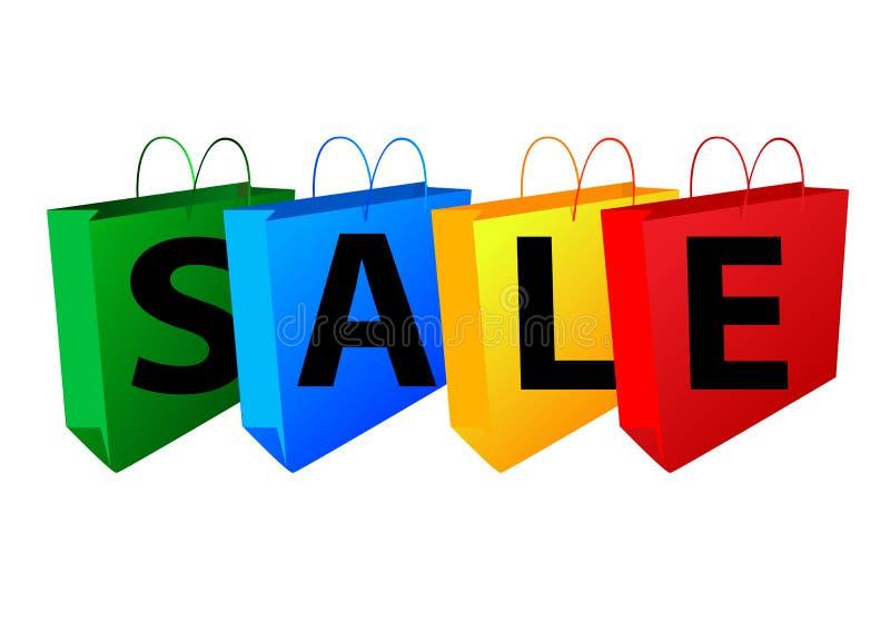 Verkauf und Beutel lizenzfreie abbildung