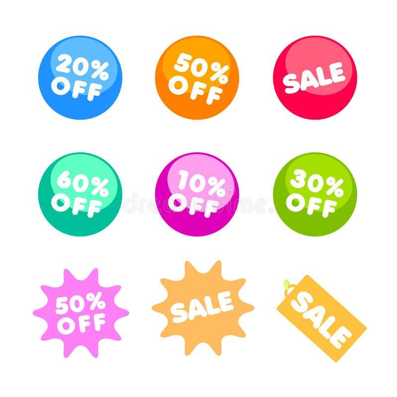 Verkauf und spezieller Preisvektor stock abbildung