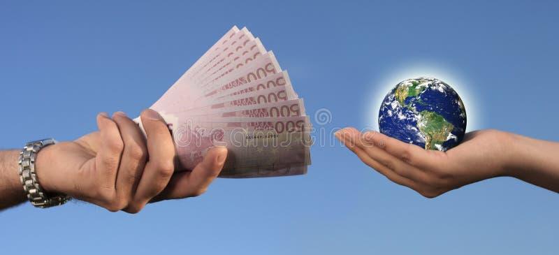 Verkauf von Erde stockfoto