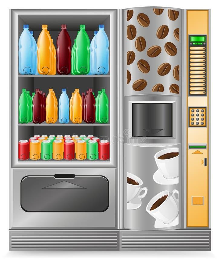 Verkaufkaffee und -wasser ist eine Maschine stock abbildung
