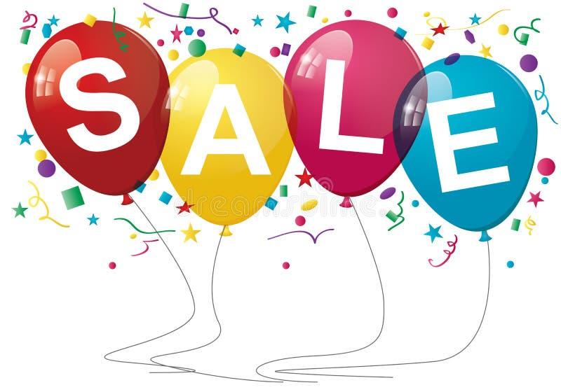 Verkaufs-Ballone lizenzfreie abbildung