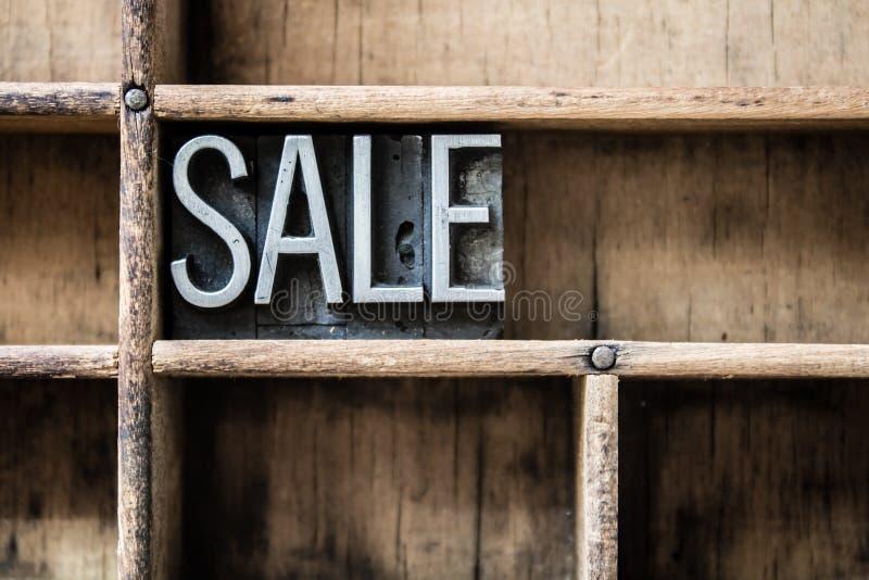 Verkaufs-Briefbeschwerer tippen Fach ein lizenzfreies stockfoto