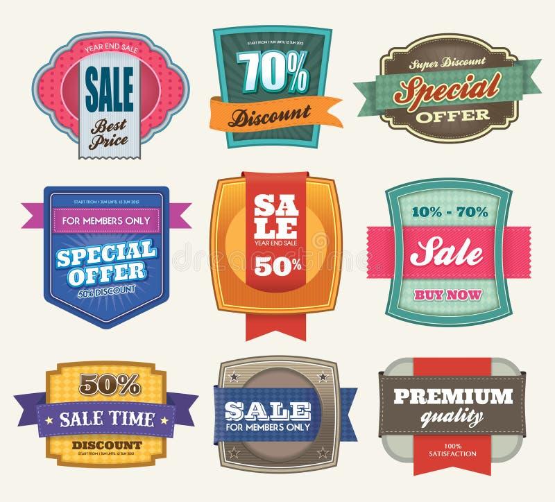 Verkaufs-Kennsätze stock abbildung