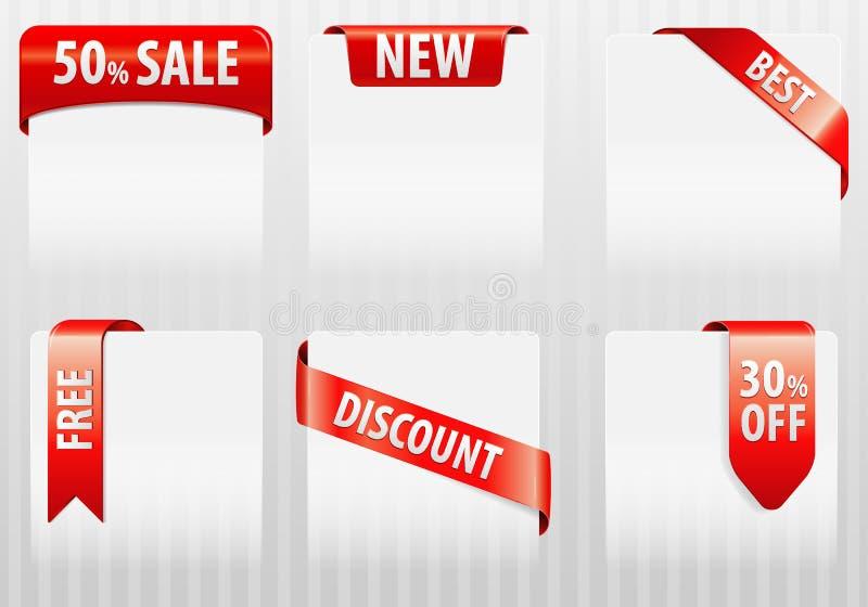 Verkaufs-Marken-Kennsätze lizenzfreie abbildung