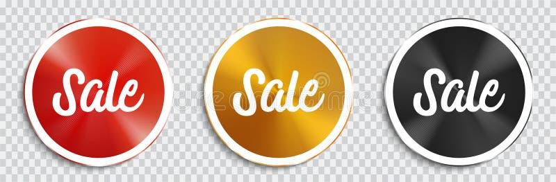Verkaufs-Origami-Fahnen eingestellt lizenzfreie abbildung
