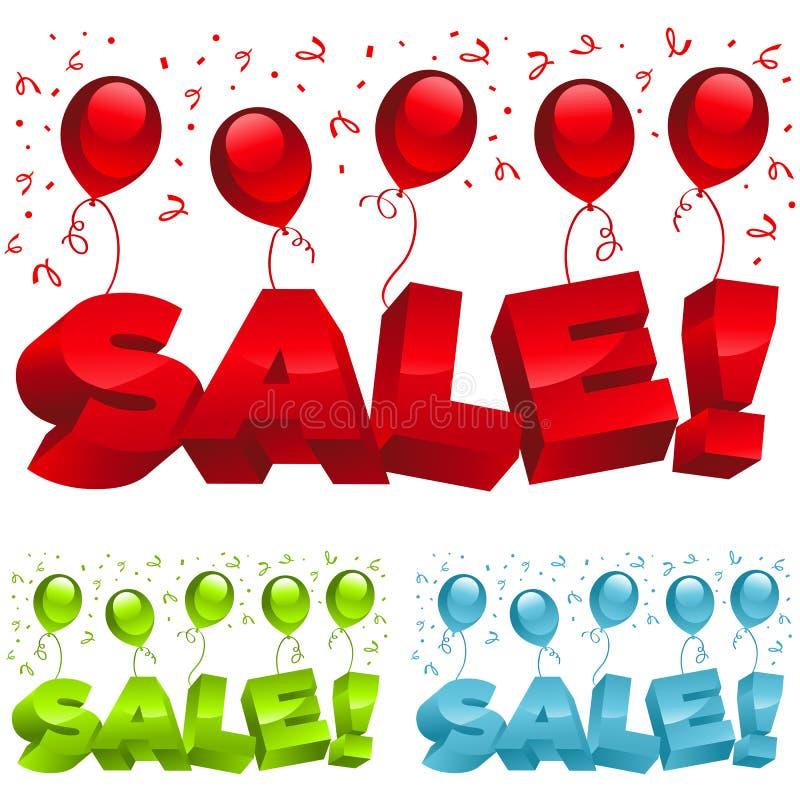 Verkaufs-Party-Ballone lizenzfreie abbildung