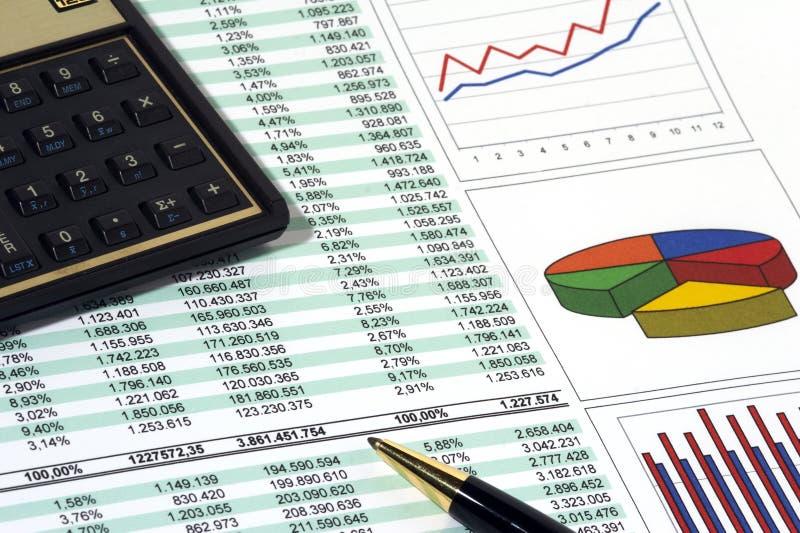 Verkaufs-Report stockbild