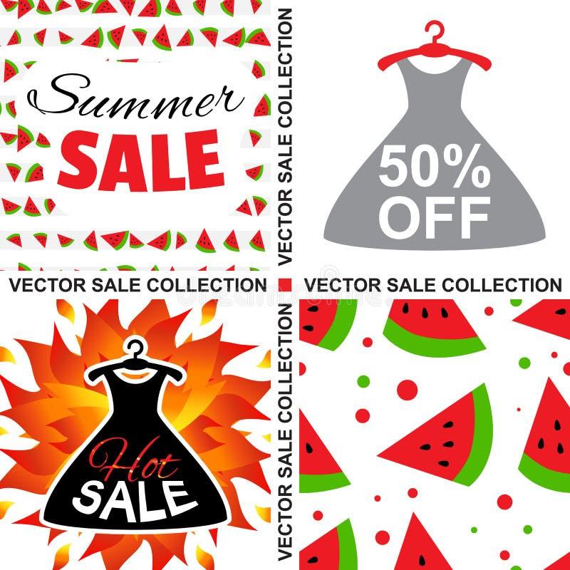 Verkaufs-Schablonen-Sammlung vektor abbildung