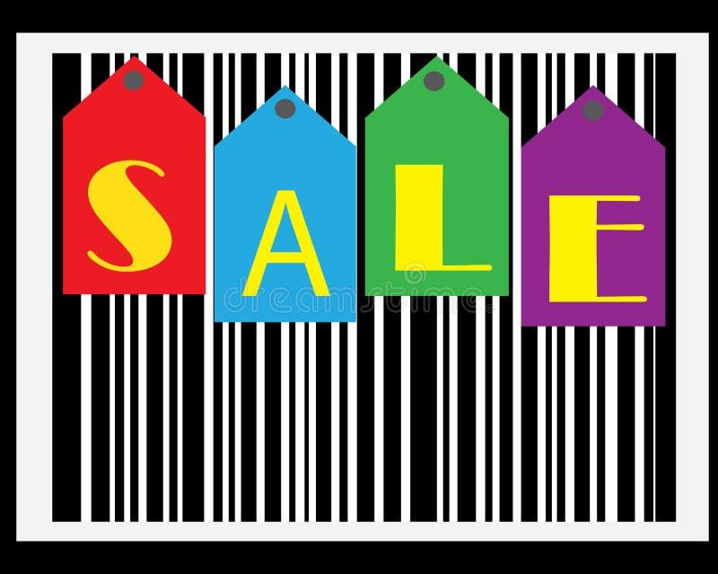 Verkaufs-Strichkode-Tapete lizenzfreies stockfoto