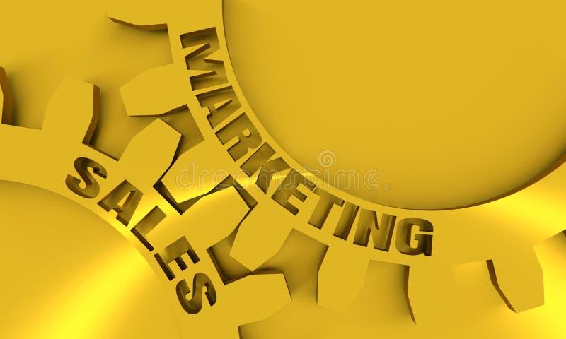 Verkaufs- und Marketing-Text auf den Gängen lizenzfreie abbildung