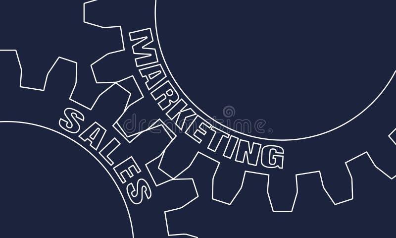 Verkaufs- und Marketing-Text auf den Gängen stock abbildung