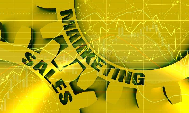 Verkaufs- und Marketing-Text auf den G?ngen vektor abbildung
