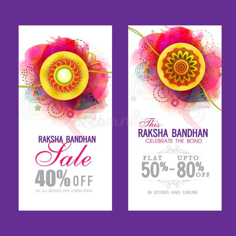 Verkaufs-Website-Fahne für Raksha Bandhan lizenzfreie abbildung