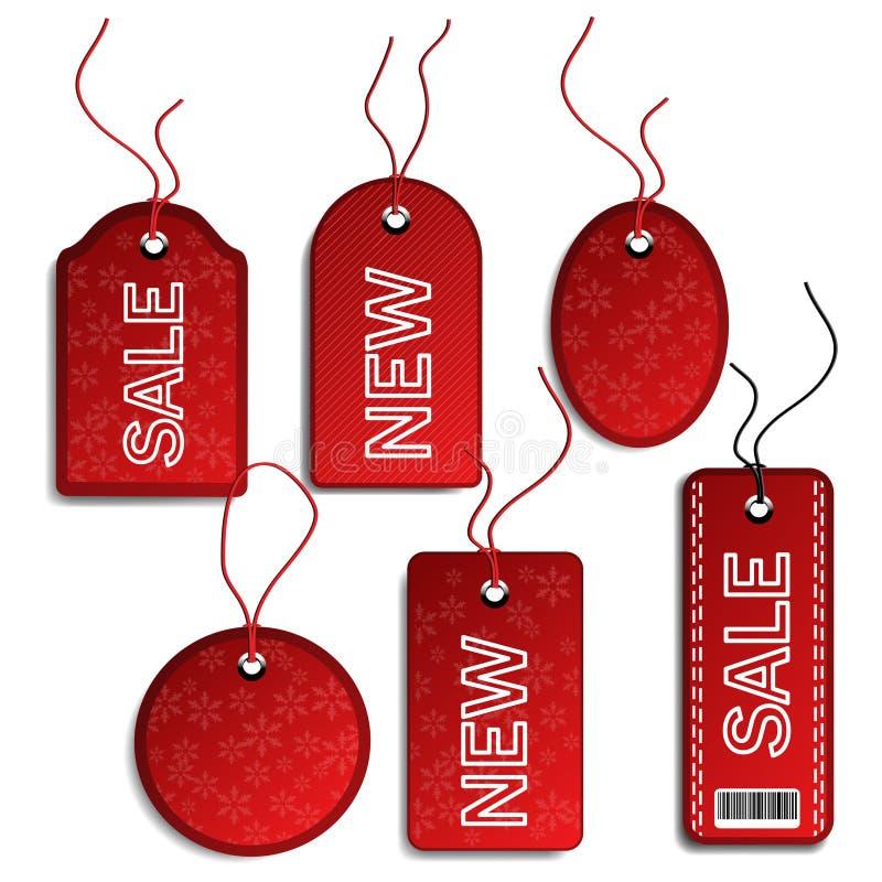 Verkaufs-Weihnachtsmarken lizenzfreie abbildung