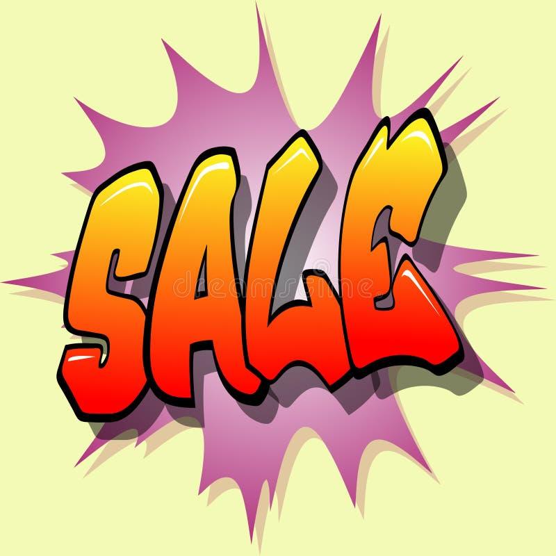 Verkaufs-Zeichen stock abbildung