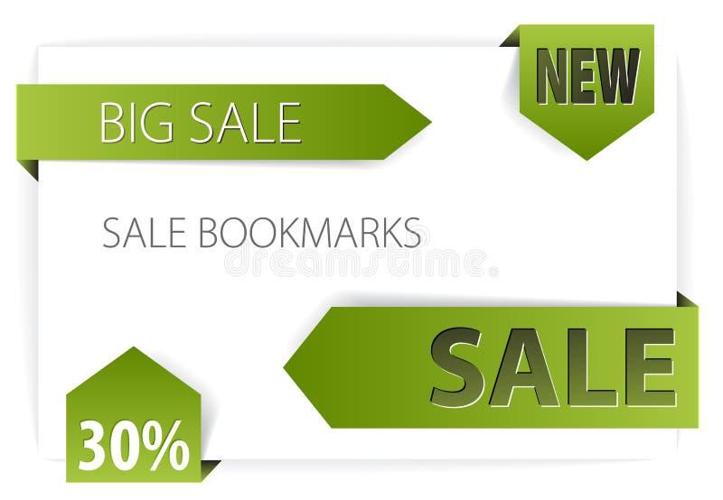 Verkaufsansagen (Marken, Abzeichen) stock abbildung