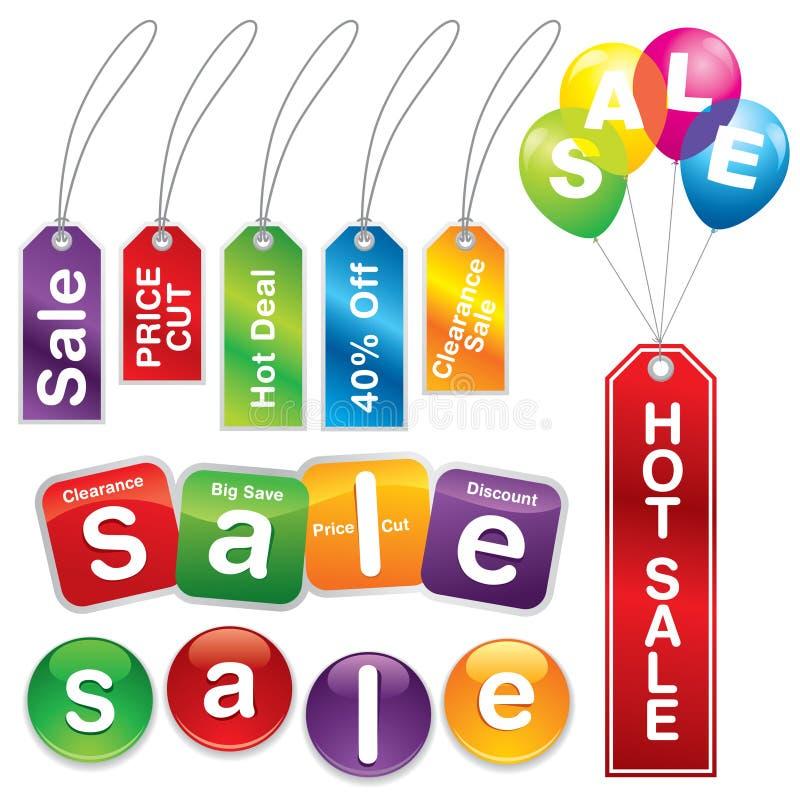 Verkaufsaufkleber und Kennsätze #5 vektor abbildung
