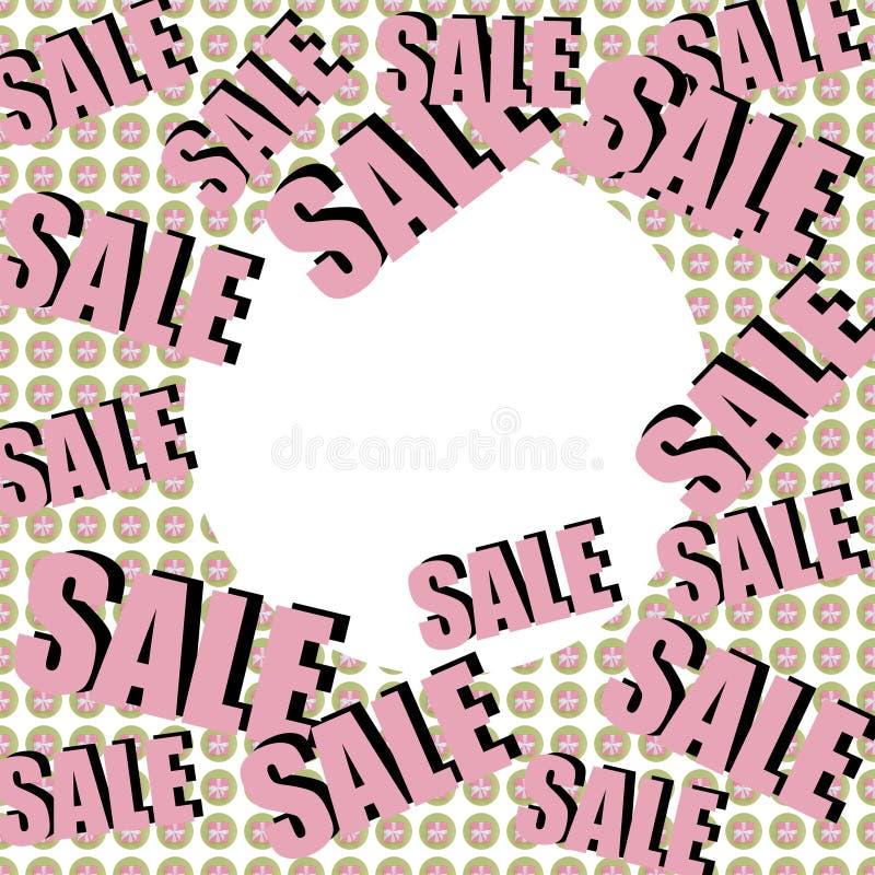 Verkaufsaufschrift auf Hintergrund mit eingewickelten Geschenken Muster collage Plakat, Einladung, Aufkleber, Flieger mit Pastell lizenzfreie abbildung
