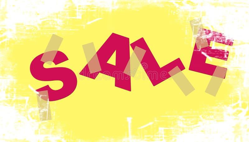 Verkaufsbekanntmachen. stock abbildung